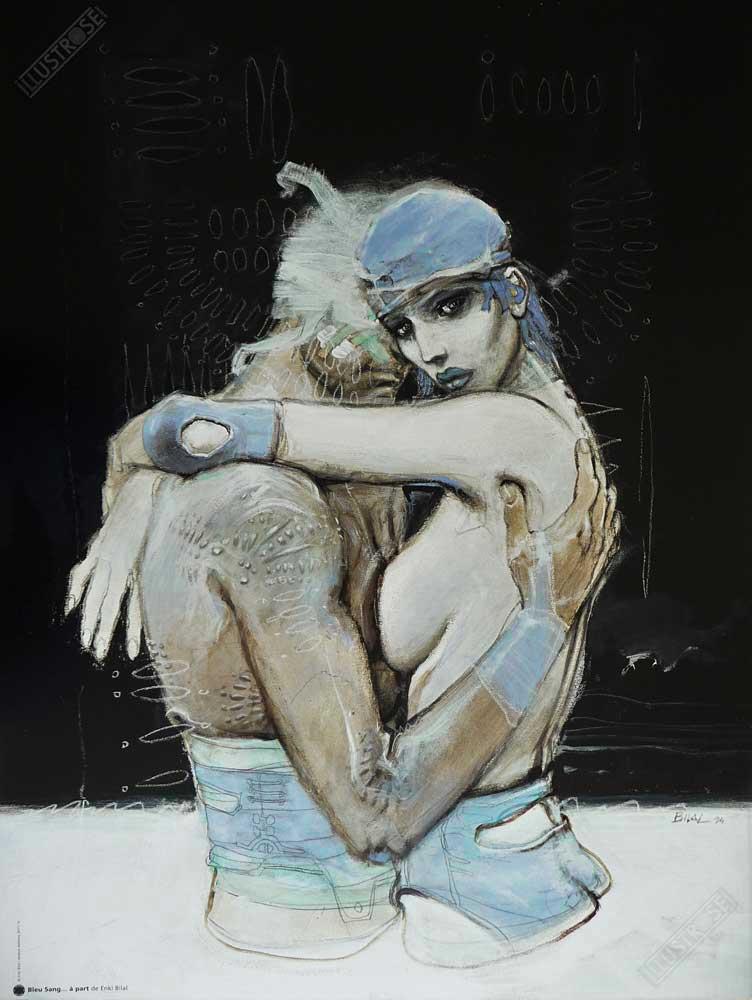 Affiche d'art BD Enki Bilal 'Bleu sang, à part' - Illustrose