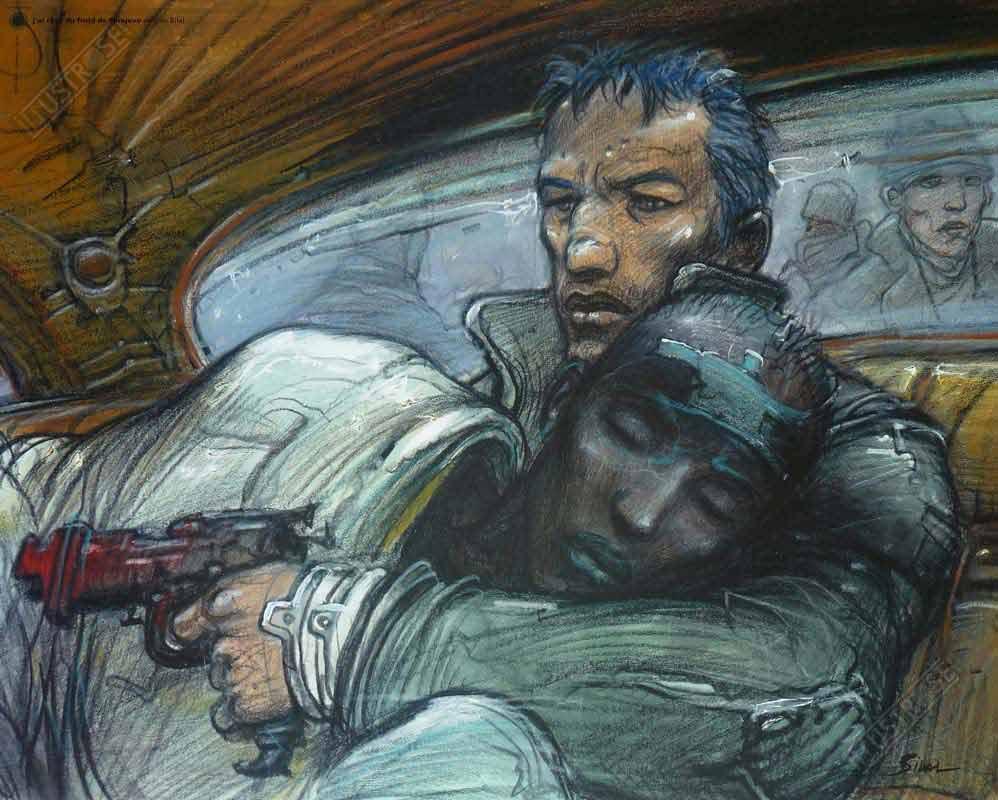 Affiche d'art BD Enki Bilal 'J'ai rêvé du froid de Sarajevo' - Illustrose