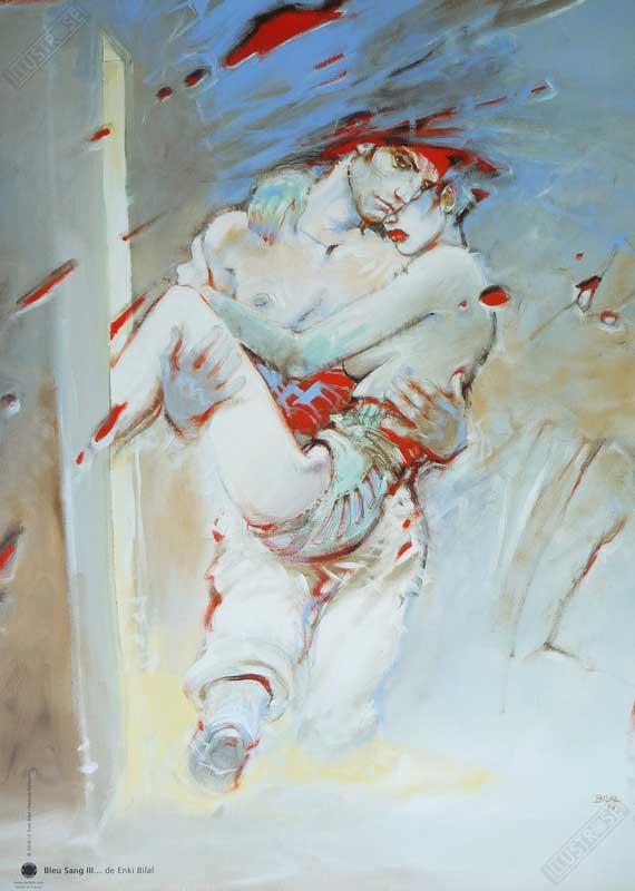 Affiche d'art BD Enki Bilal 'Bleu sang III' - Illustrose