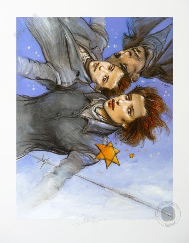 Affiche d'art illustration signée Enki Bilal, 'Shoah et bande dessinée' - Illustrose
