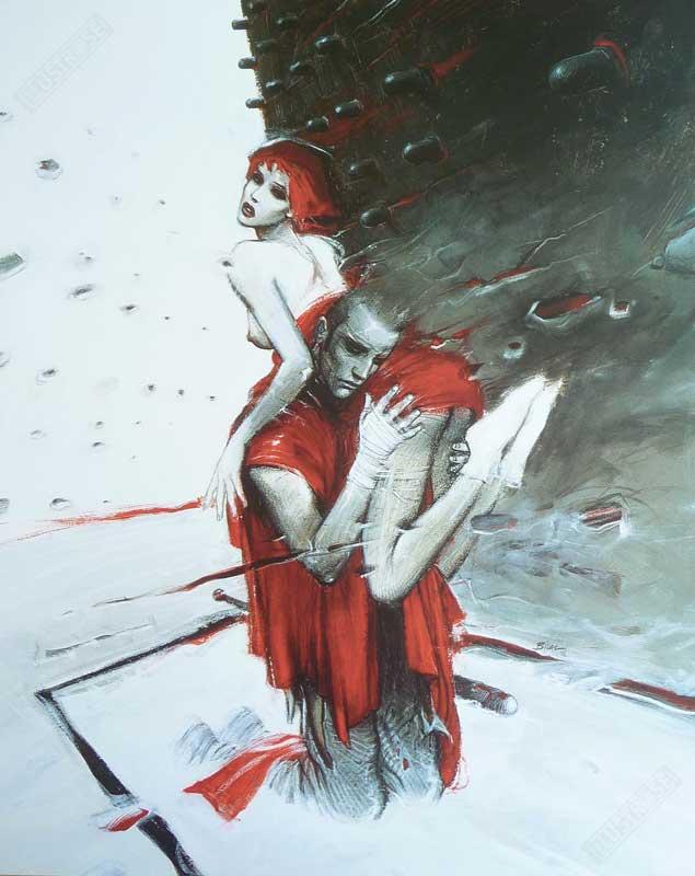 Illustrose vous propose 'Roméo & Juliette', une affiche décorative tirée de la BD d'Enki Bilal. Cette illustration est éditée par Christian Desbois, spécialiste en para-bd. Les reproductions d'art existent en différents formats, numérotée et/ou signée.