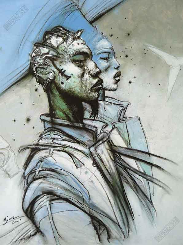 Affiche d'art BD Enki Bilal 'L'an 2001' - Illustrose