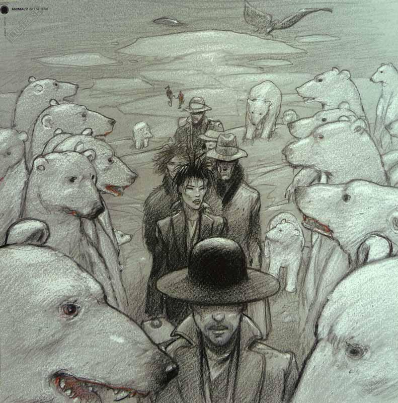 Affiche d'art BD Enki Bilal 'Animal'Z' - Illustrose