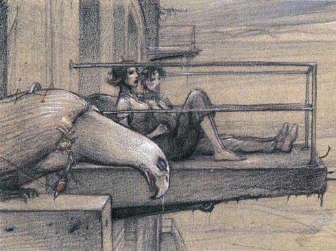 Affiche d'art BD Enki Bilal 'Le balcon' - Illustrose