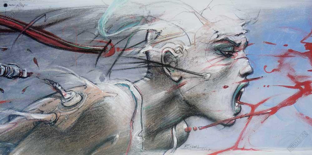 Affiche d'art BD Enki Bilal 'Sacha' - Illustrose