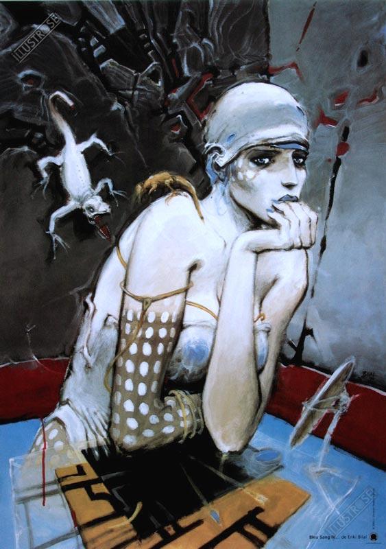 Affiche d'art BD Enki Bilal 'Bleu sang IV' - Illustrose