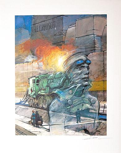 Impression aux encres BD Enki Bilal 'Le creusot' - Illustrose