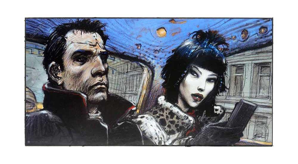 Affiche d'art BD Enki Bilal 'L'interview' signée et numérotée - Illustrose