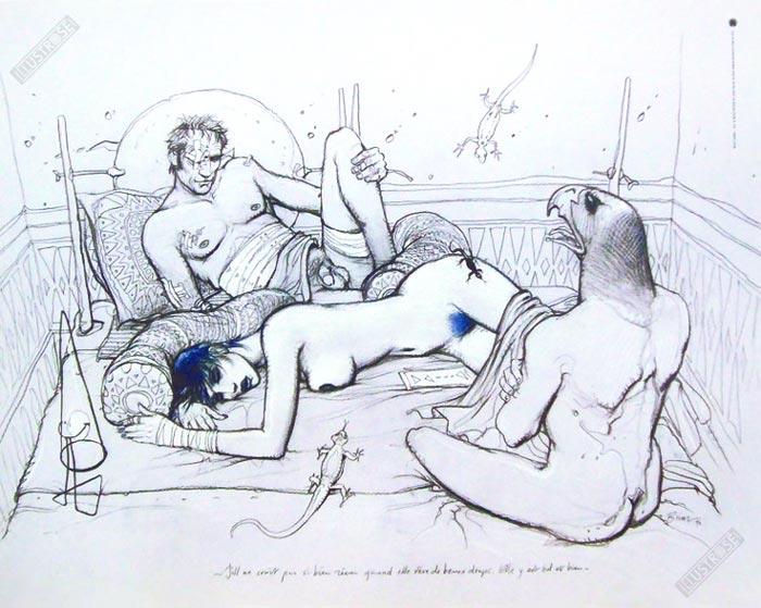 Affiche d'art BD Enki Bilal 'Jill à beau rêver' - Illustrose