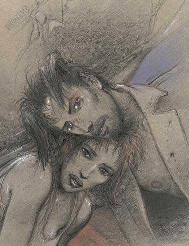 Affiche d'art BD Enki Bilal 'Julia & Roem' - Illustrose