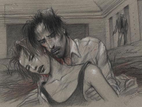 Affiche d'art BD Enki Bilal 'Larmes'- Illustrose