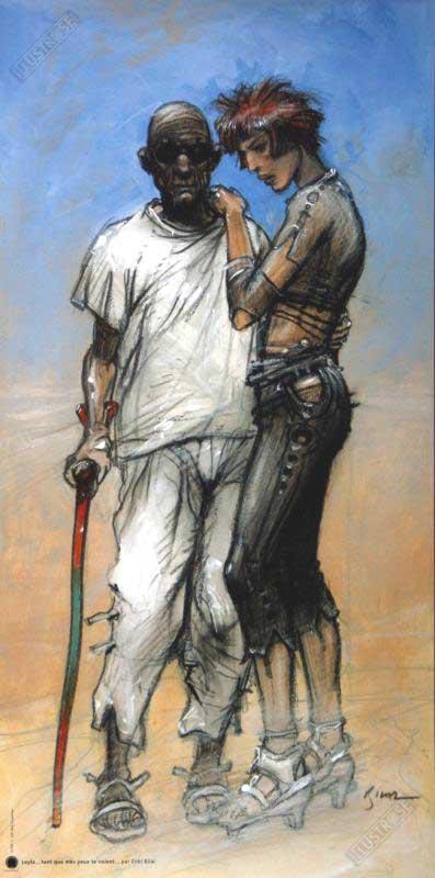 Affiche d'art BD Enki Bilal 'Leyla tant que mes yeux te voient' - Illustrose