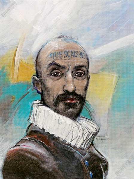 Affiche d'art BD Enki Bilal 'Montaigne' - Illustrose
