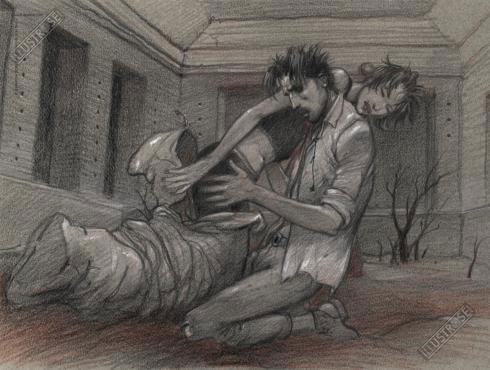 Affiche d'art BD Enki Bilal 'Mort' - Illustrose