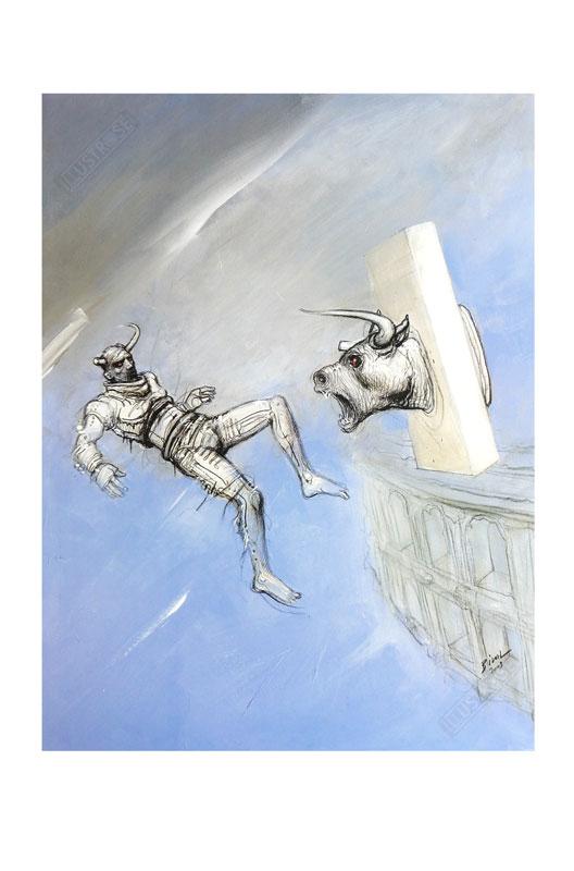 Affiche d'art BD Enki Bilal 'Nimes' - Illustrose