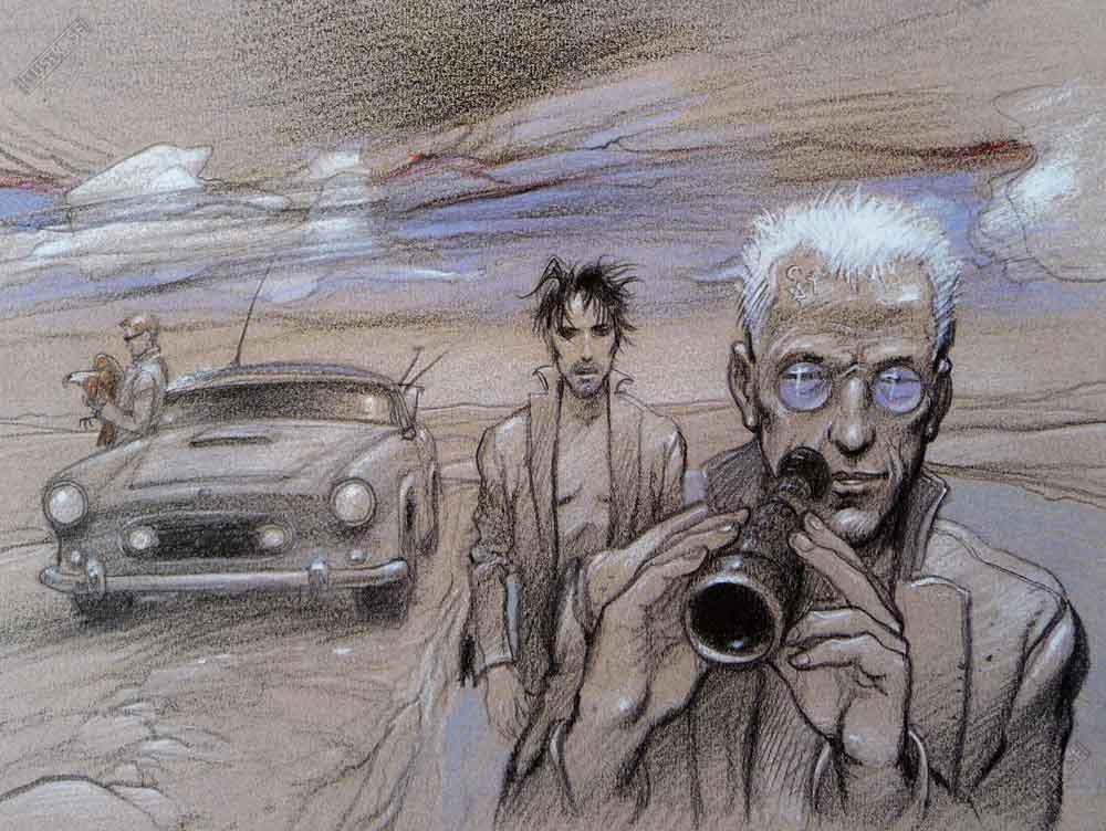 Affiche d'art BD Enki Bilal 'L'observation' - Illustrose