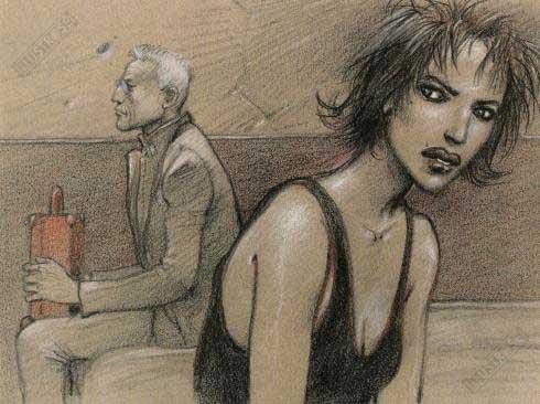 Affiche d'art BD Enki Bilal 'Le pacte' - Illustrose