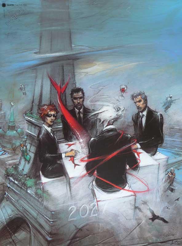Affiche d'art BD Enki Bilal 'Quatre, couverture' - Illustrose