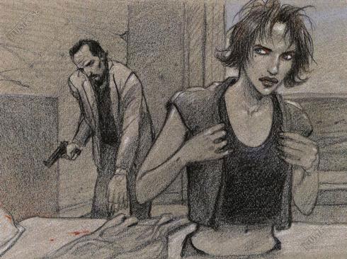 Affiche d'art BD Enki Bilal 'Sang' - Illustrose