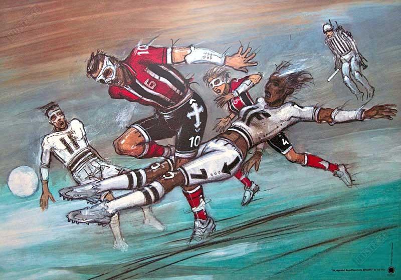 Affiche d'art BD Enki Bilal 'Magnifique tacle' - Illustrose