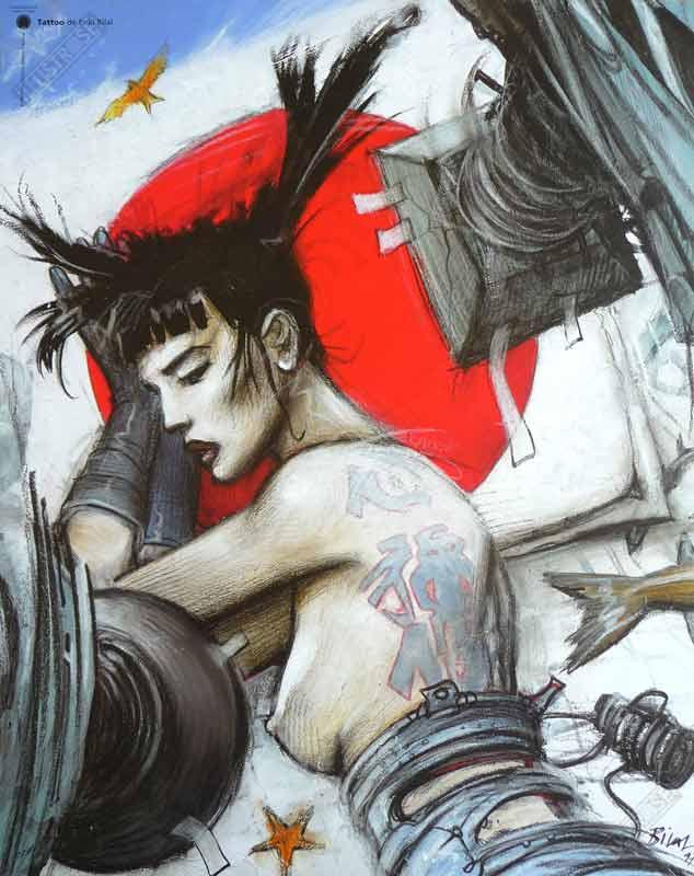 Affiche d'art BD Enki Bilal 'Tattoo' - Illustrose