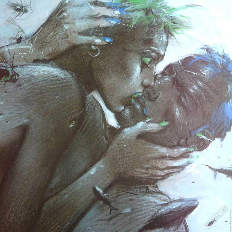 Affiche d'art BD Enki Bilal 'Tu m'aimes black' - Illustrose