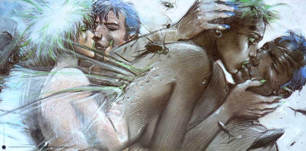 Affiche d'art BD Enki Bilal 'Tu m'aimes' - Illustrose