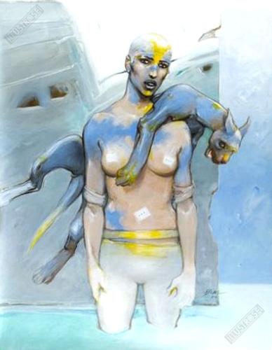 Affiche d'art BD Enki Bilal 'Vertébrati I' - Illustrose