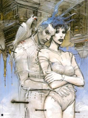 Affiche d'art BD Enki Bilal 'Visioni di fine millenio' - Illustrose