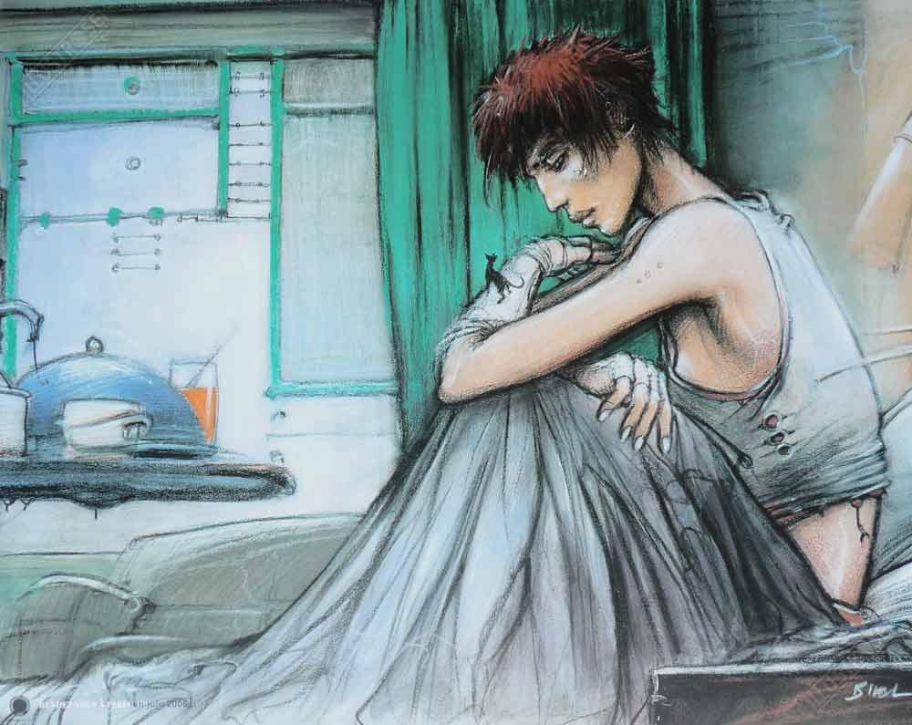 Affiche d'art BD Enki Bilal 'Rendez-vous à Paris Minicat' - Illustrose