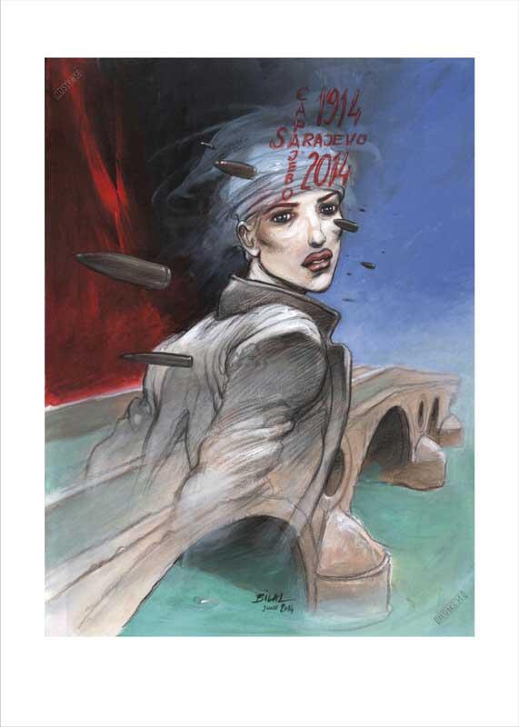 Affiche d'art BD Enki Bilal 'Sarajevo 2014' - Illustrose