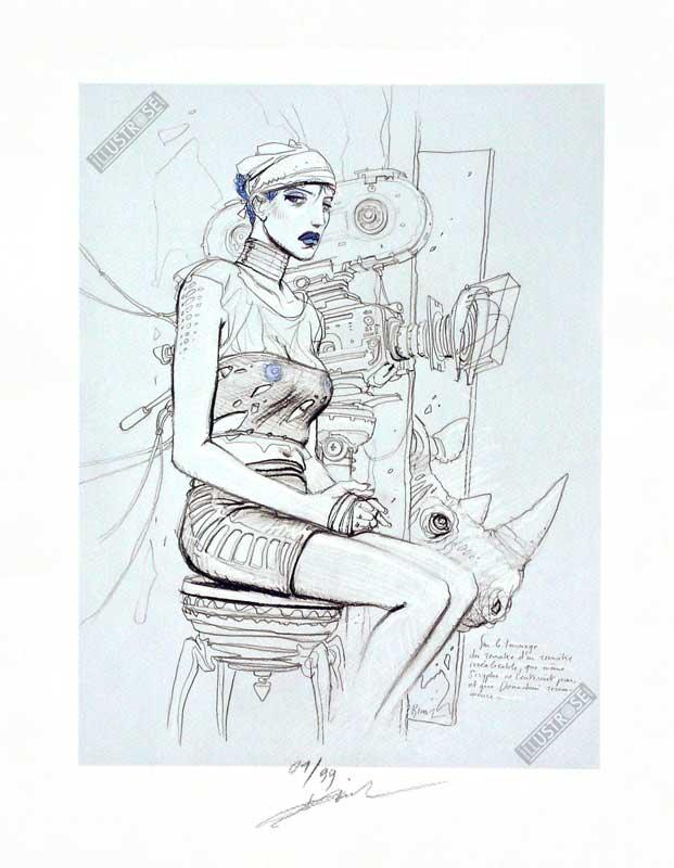 Estampe BD Enki Bilal 'L'inédit' - Illustrose