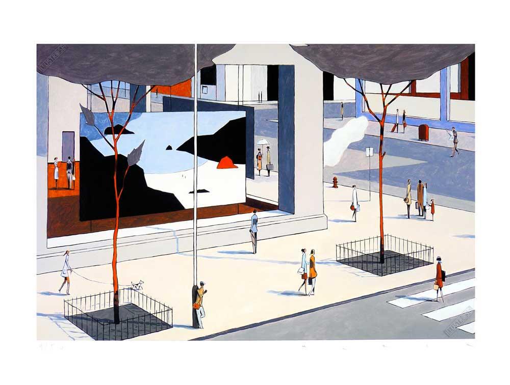 Estampe pigmentaire François Avril 'The gallery' - Illustrose