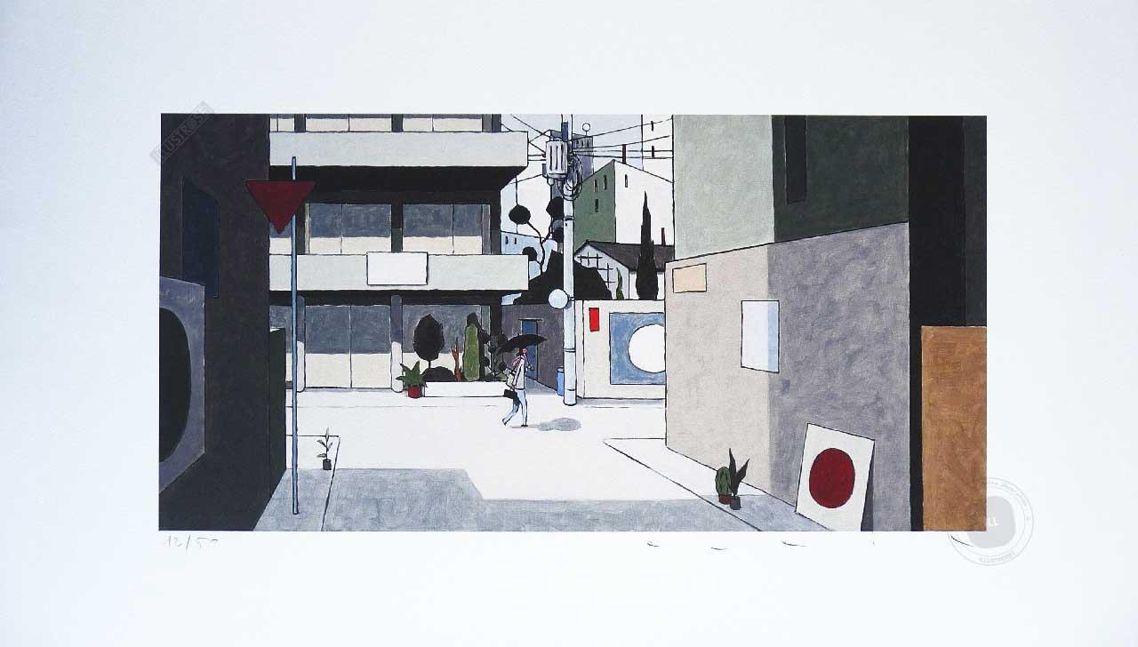 Estampe pigmentaire François Avril 'Kagurazaka' - Illustrose
