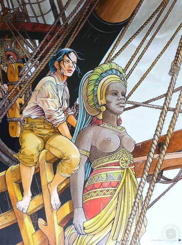 Affiche d'art BD Les passagers du vent 'Le bois d'ébène' - Illustrose