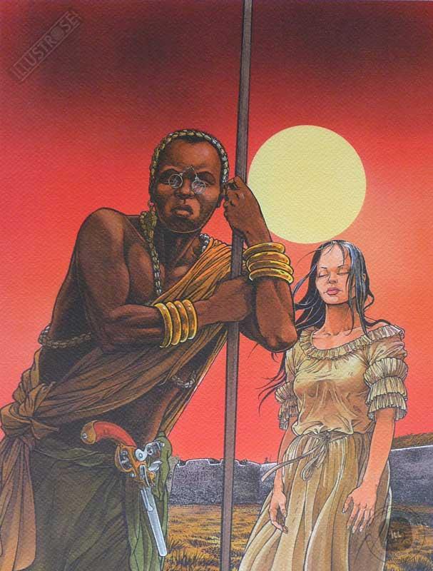Affiche d'art BD Les passagers du vent 'Le comptoir de Juda' - Illustrose