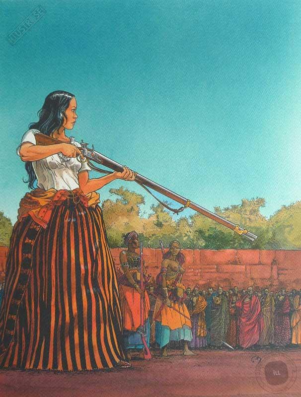 Affiche d'art BD Les passagers du vent 'L'heure du serpent' - Illustrose