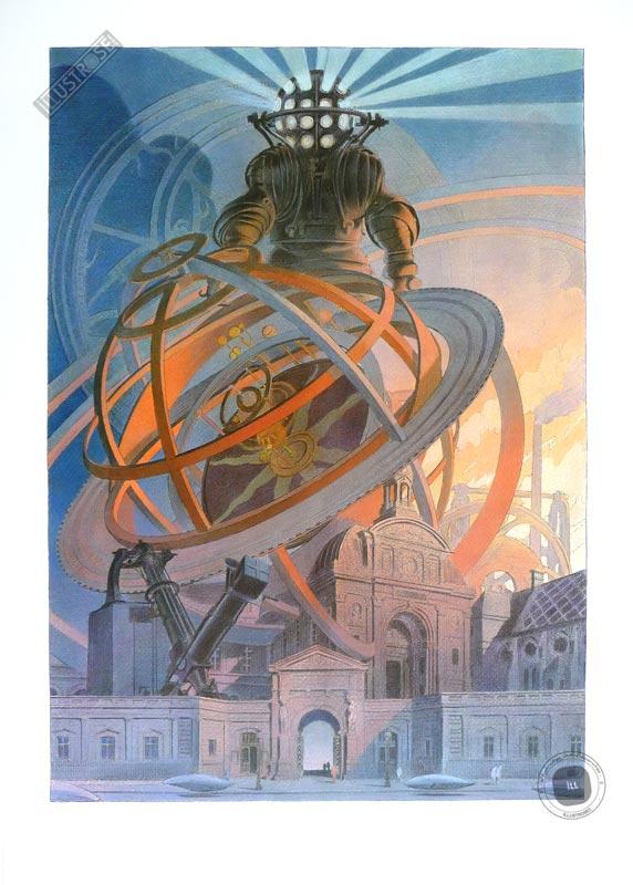 Affiche BD François Schuiten, Exposition 'Machines à dessiner' - Illustrose