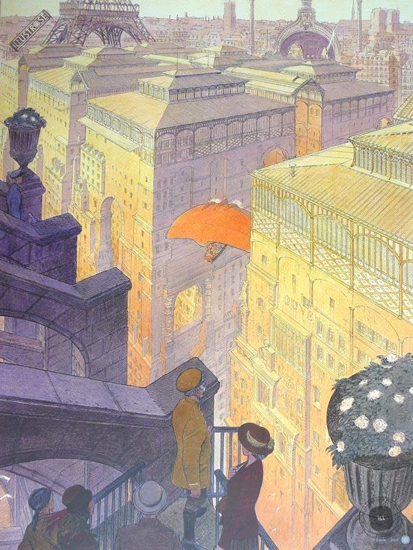 Affiche d'art François Schuiten 'Paris, les halles le jour' - Illustrose