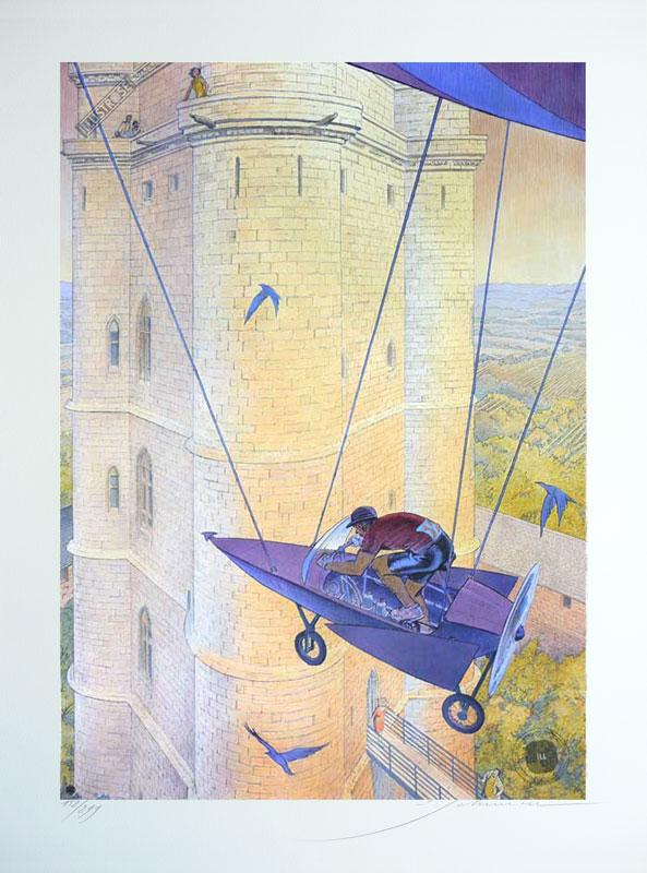 Affiche d'art signée François Schuiten 'Vincennes 2012, le donjon' - Illustrose