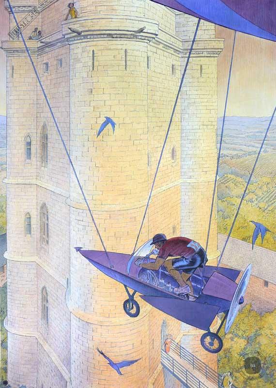 Affiche d'art François Schuiten 'Vincennes 2012, le donjon' - Illustrose