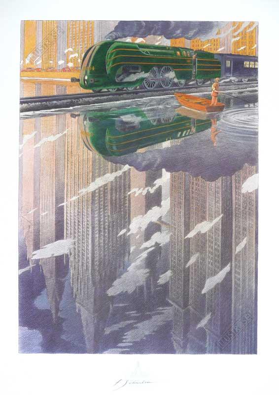 Affiche d'art François Schuiten 'La type 12 reflet' - Illustrose