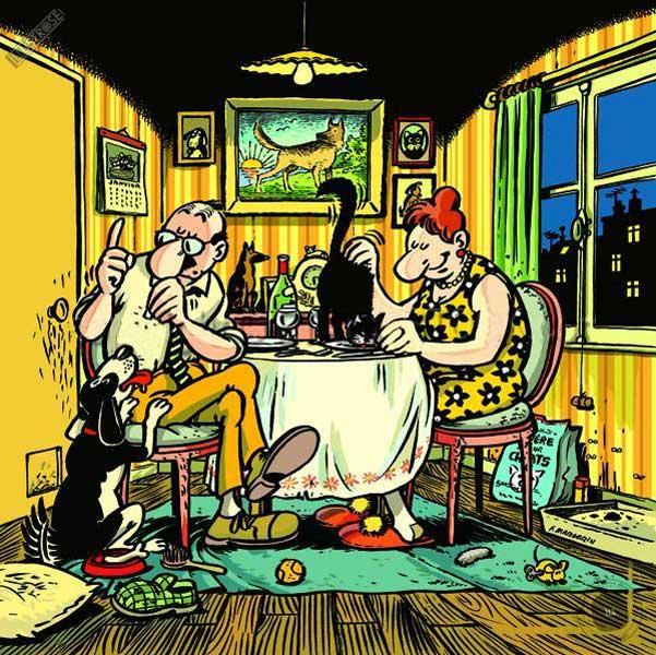 Affiche BD de Frank Margerin 'Nos amis les bêtes' - Illustrose