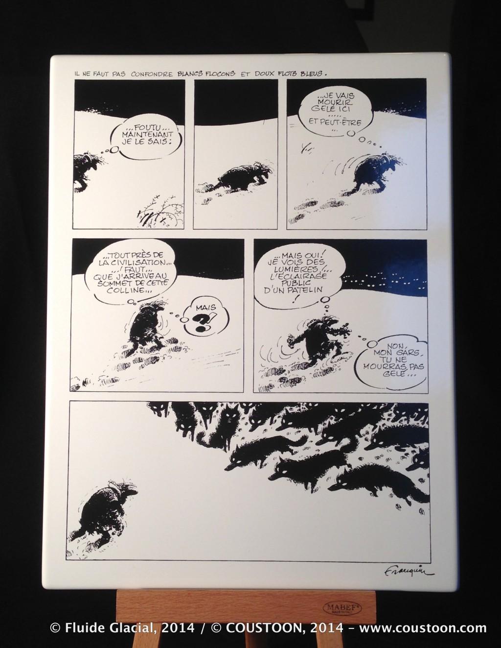 Plaque émaillée déco BD Idées noires de Franquin - Illustrose