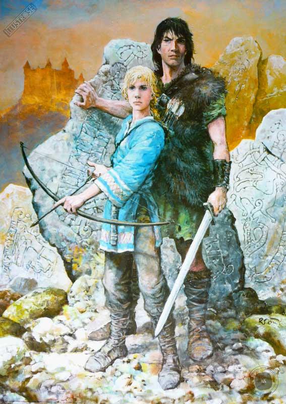 Affiche BD Thorgal de Grzegorz Rosinski 'Moi Jolan' - Illustrose