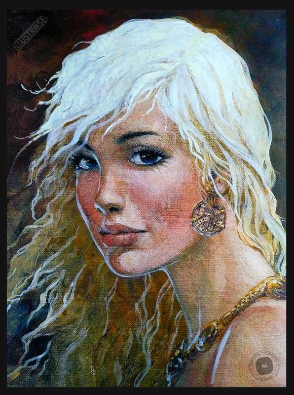 Affiche BD Thorgal de Grzegorz Rosinski 'Portrait de Aaricia' - Illustrose