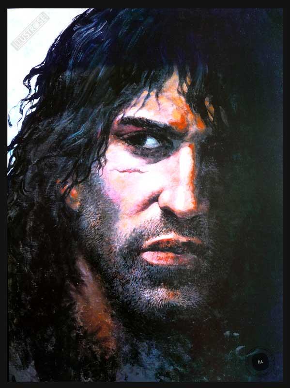 Affiche BD Thorgal de Grzegorz Rosinski 'Portrait' - Illustrose