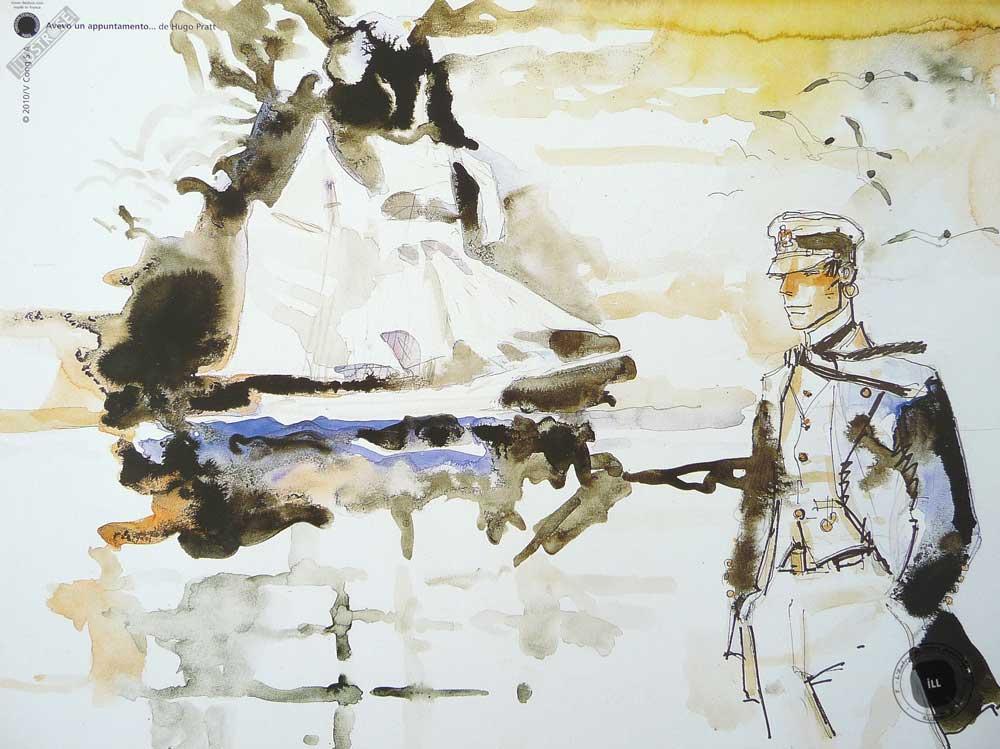 Affiche BD Corto Maltese 'Avevo un appuntamento' - Illustrose