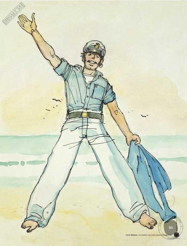 Affiche BD Corto Maltese 'Ballada del mare' - Illustrose