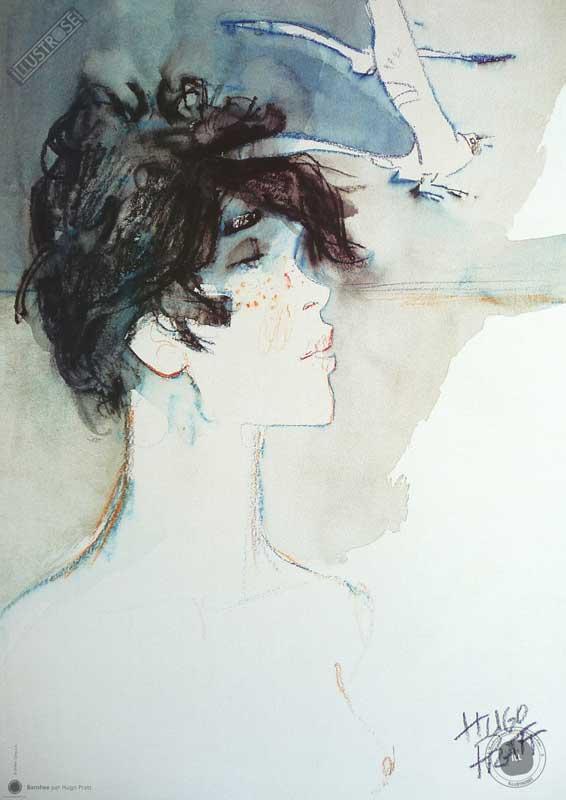 Affiche BD Corto Maltese de Hugo Pratt 'Banshee' - Illustrose